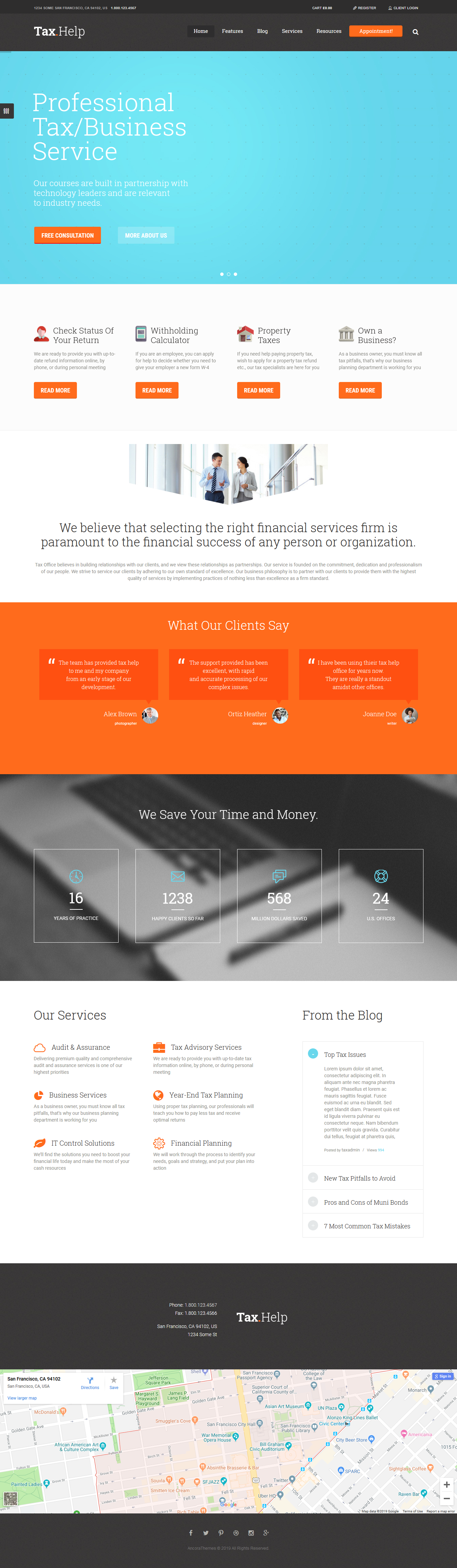 tax help best premium accounting wordpress theme - 10+ Best Premium Accounting WordPress Themes
