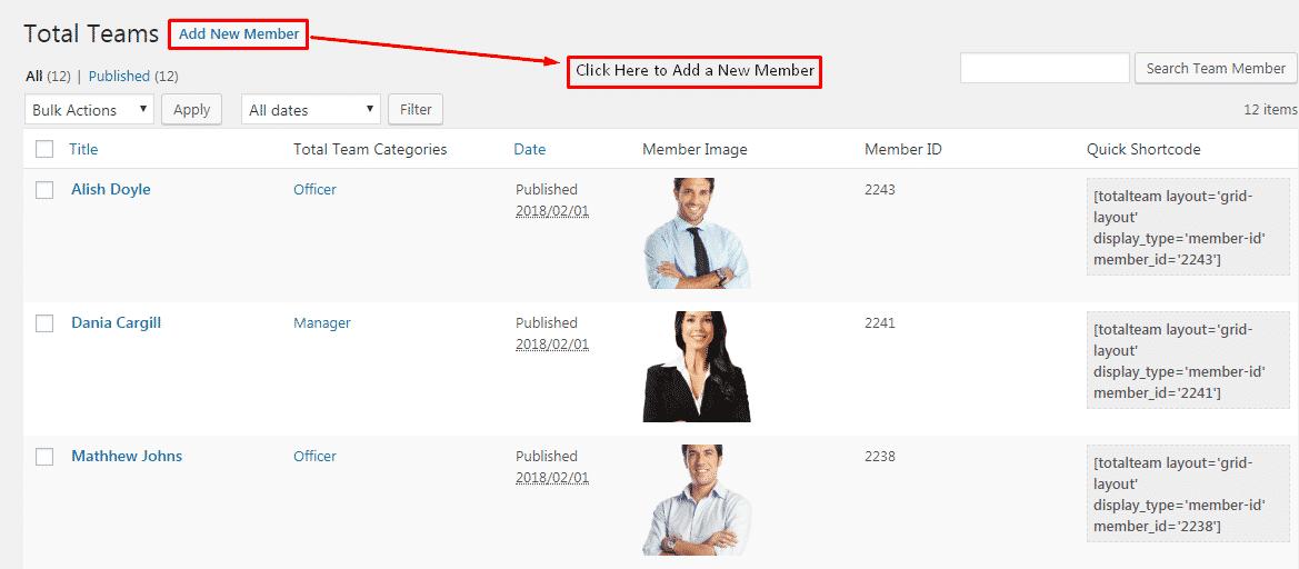 team members - How to Showcase Team Members on WordPress Website? (Step by Step Guide)