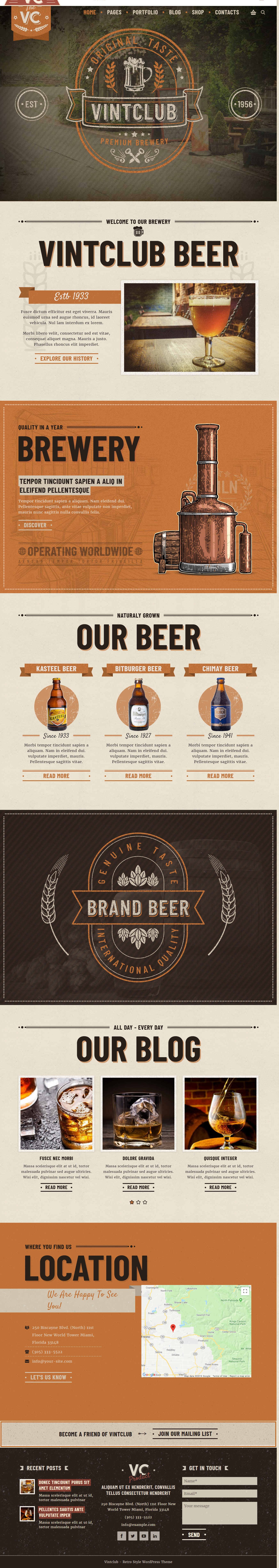 vintclub best premium bar pub wordpress theme - 10+ Best Premium Bar and Pub WordPress Themes