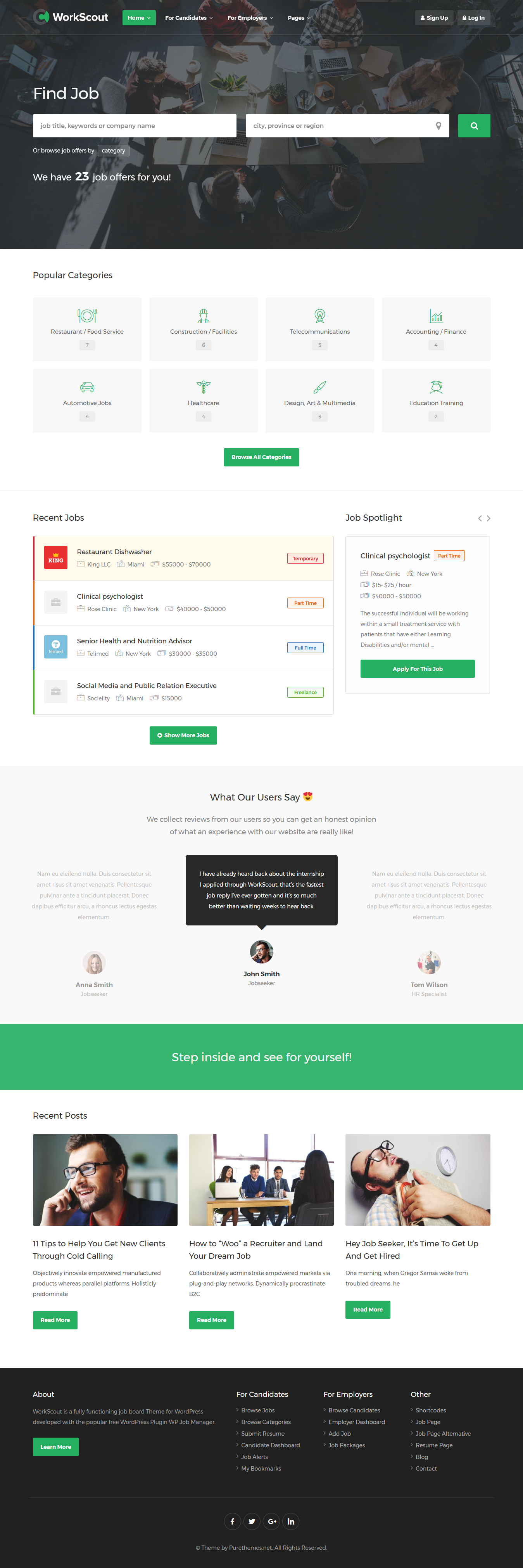 workscout best premium job board wordpress theme - 10+ Best Premium Job Board WordPress Themes