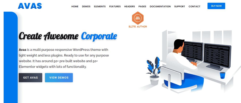 Avas - Premium Elementor WordPress Theme