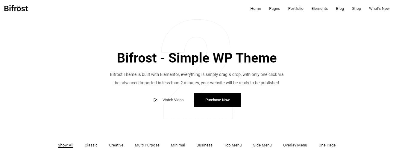 Bifrost - Best Premium Elementor WordPress Themes