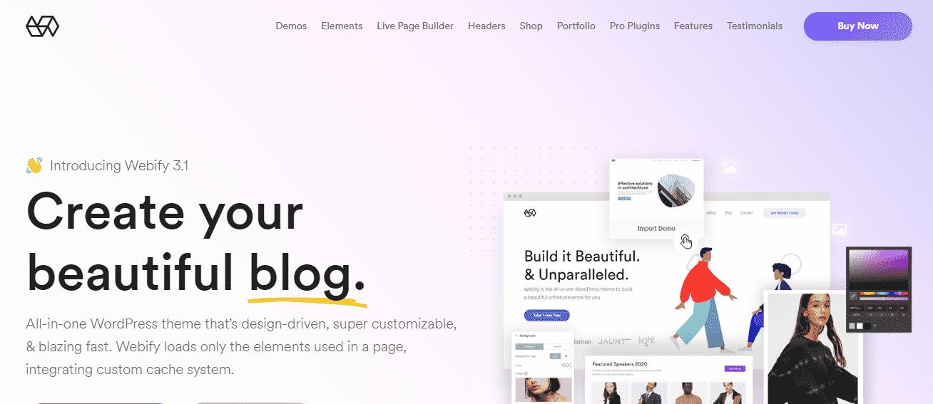 Webify - Best Premium Elementor WordPress Themes