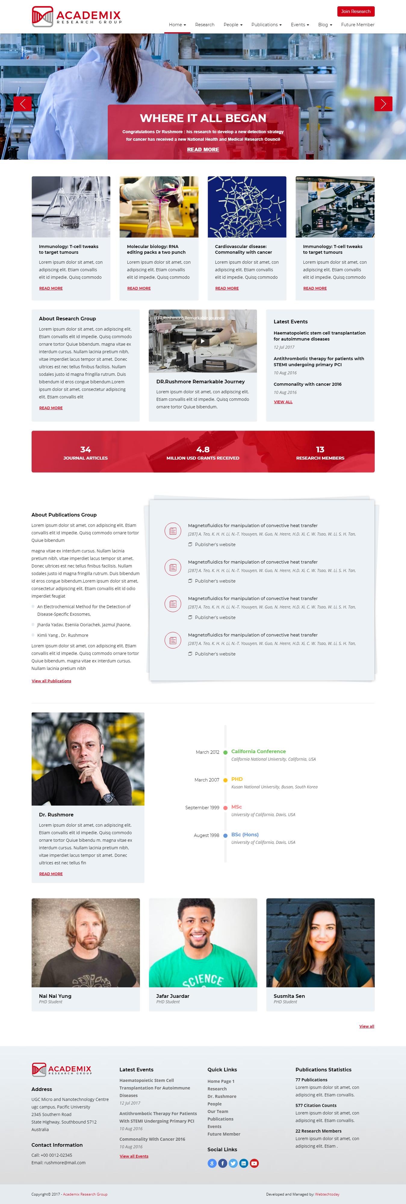 Academix - Best Premium Science WordPress Theme