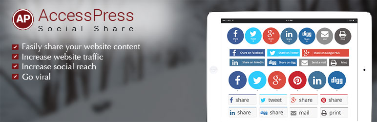 accesspress social share - 5+ Best Free WordPress Social Share Plugins (Handpicked Collection)
