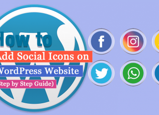 How to Add Social Icons to WordPress Website? (Step by Step Guide)