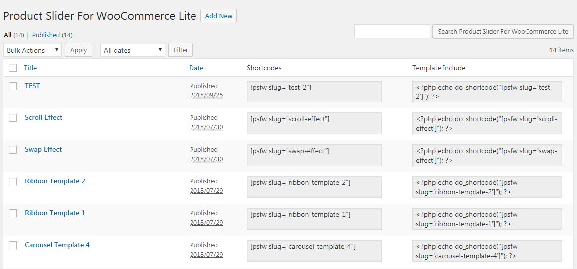 All Product Slider for WooCommerce Lite