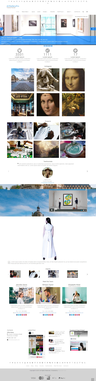 artgallery best free gallery wordpress theme - 10+ Best Free Gallery WordPress Themes
