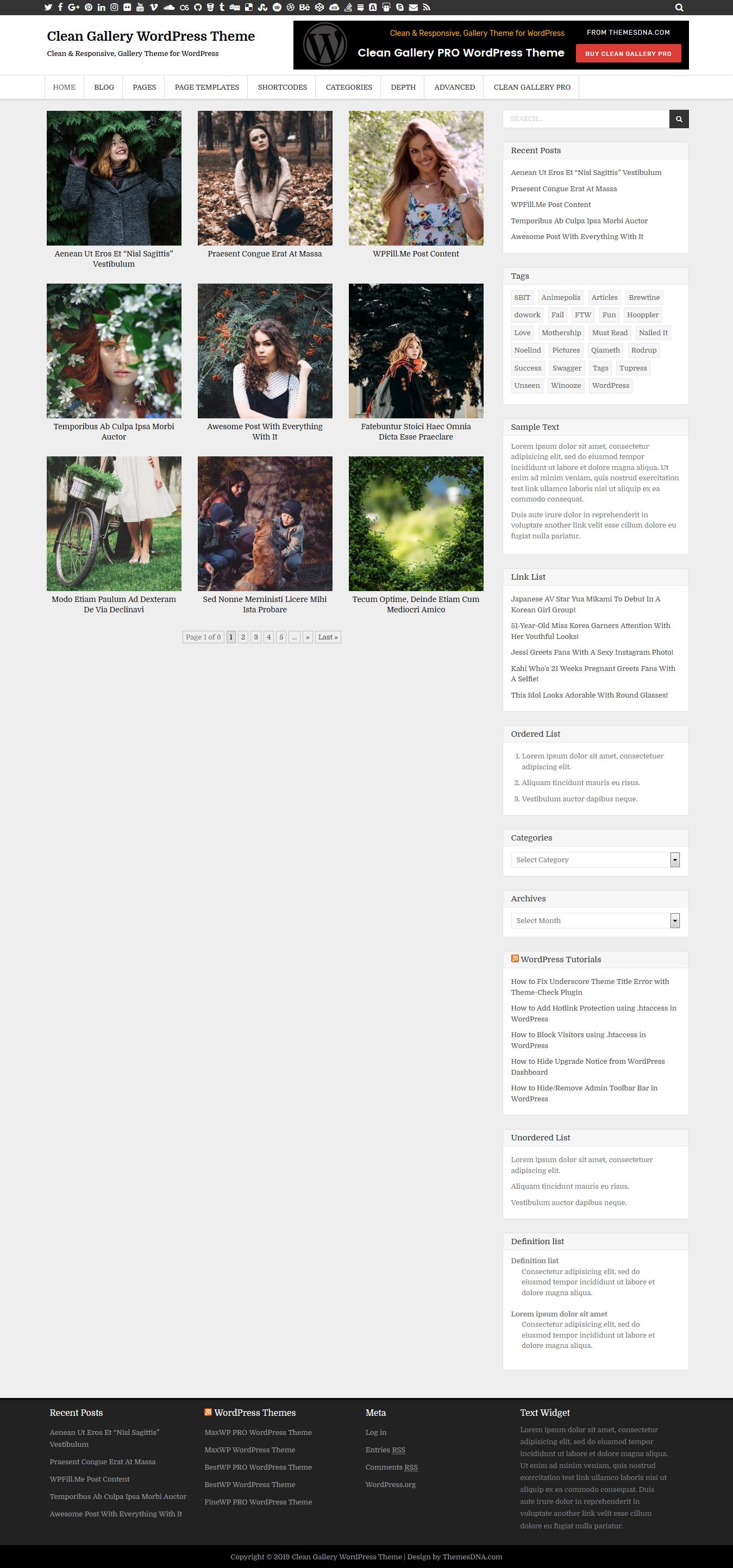 clean gallery best free gallery wordpress theme - 10+ Best Free Gallery WordPress Themes