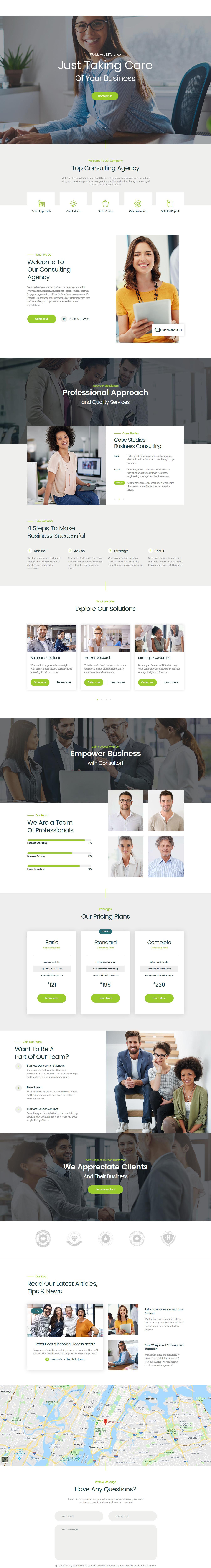 Consultor – Best Premium Consultant WordPress Theme