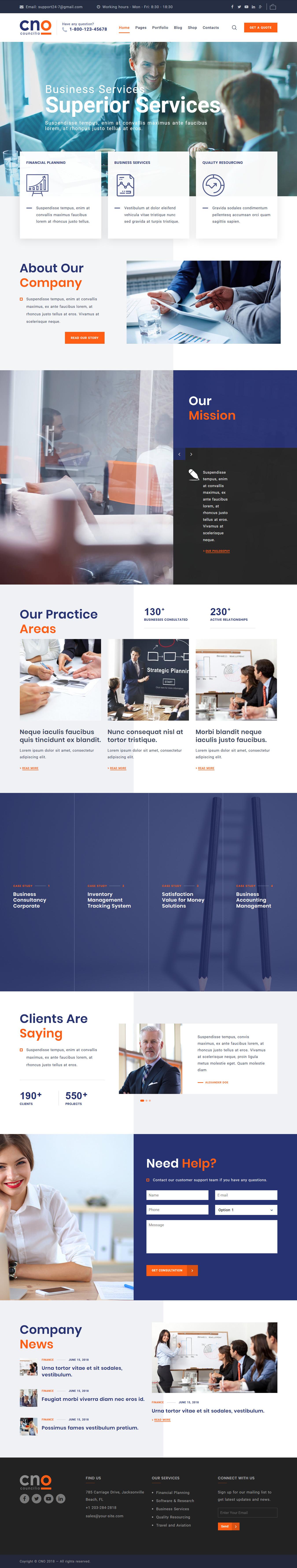 Councilio – Best Premium Consulting WordPress Theme