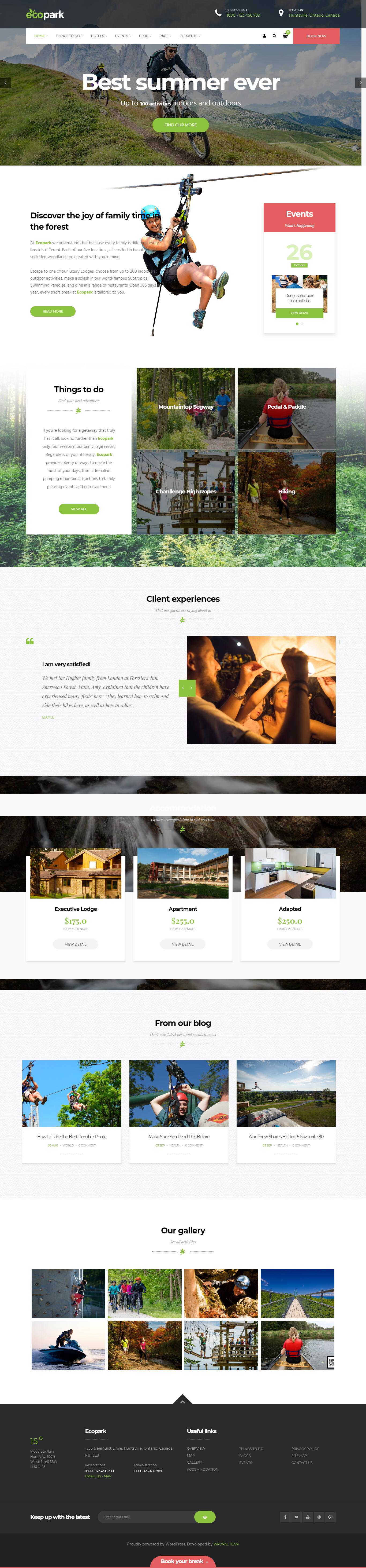 ecopark best premium outdoor activities wordpress theme - 10+ Best Premium Outdoor Activities WordPress Themes