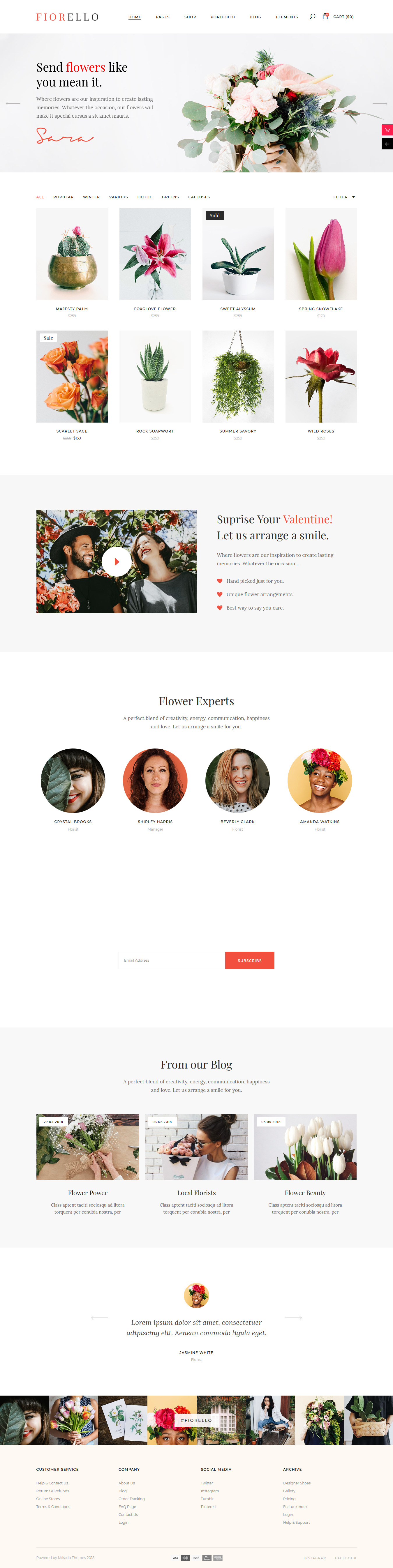 Fiorello – Best Premium Florist and Floriculture WordPress Theme