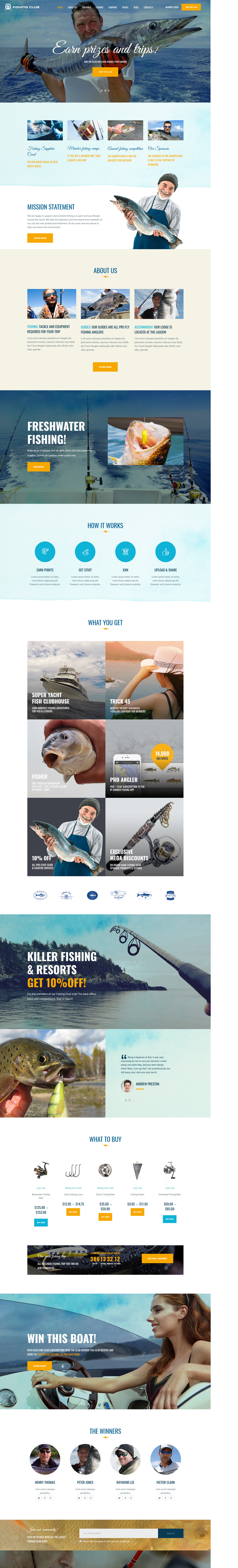 Fishing Club - Best Premium Outdoor Activities WordPress Theme