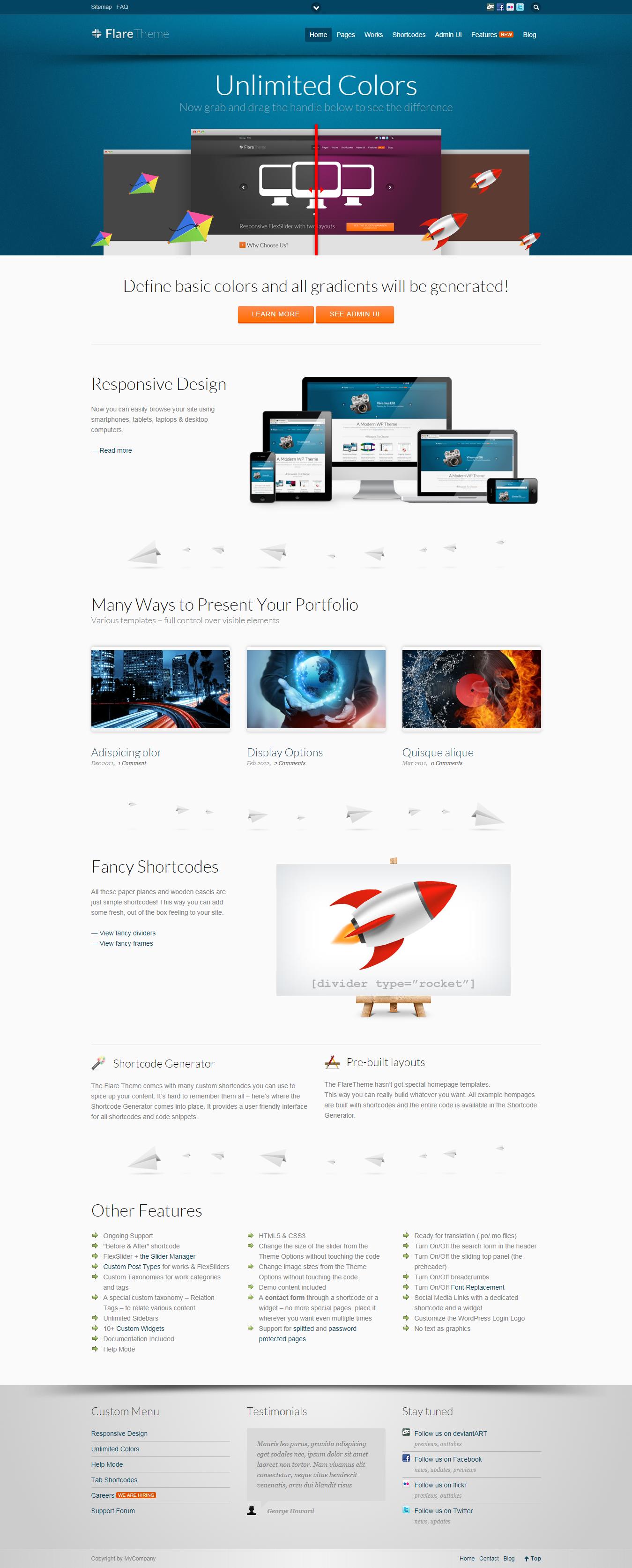 Flare - Best Premium Science WordPress Theme