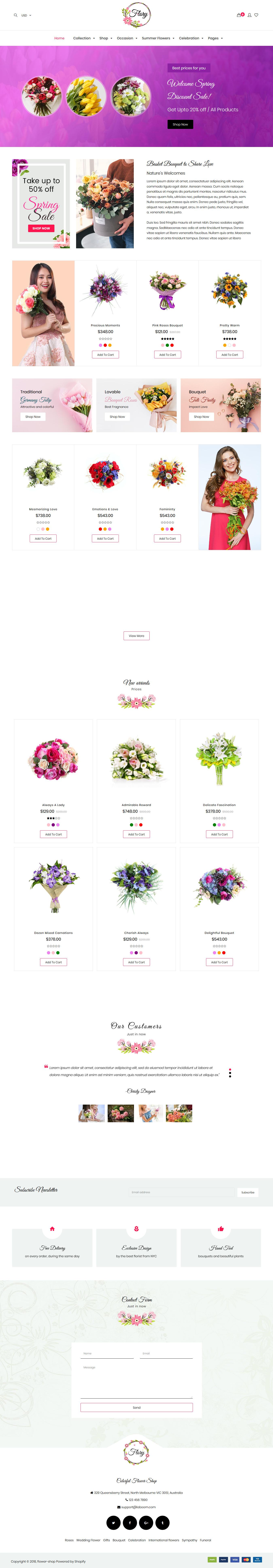 flory best premium florist floriculture wordpress theme - 10+ Best Premium Florist and Floriculture WordPress Themes
