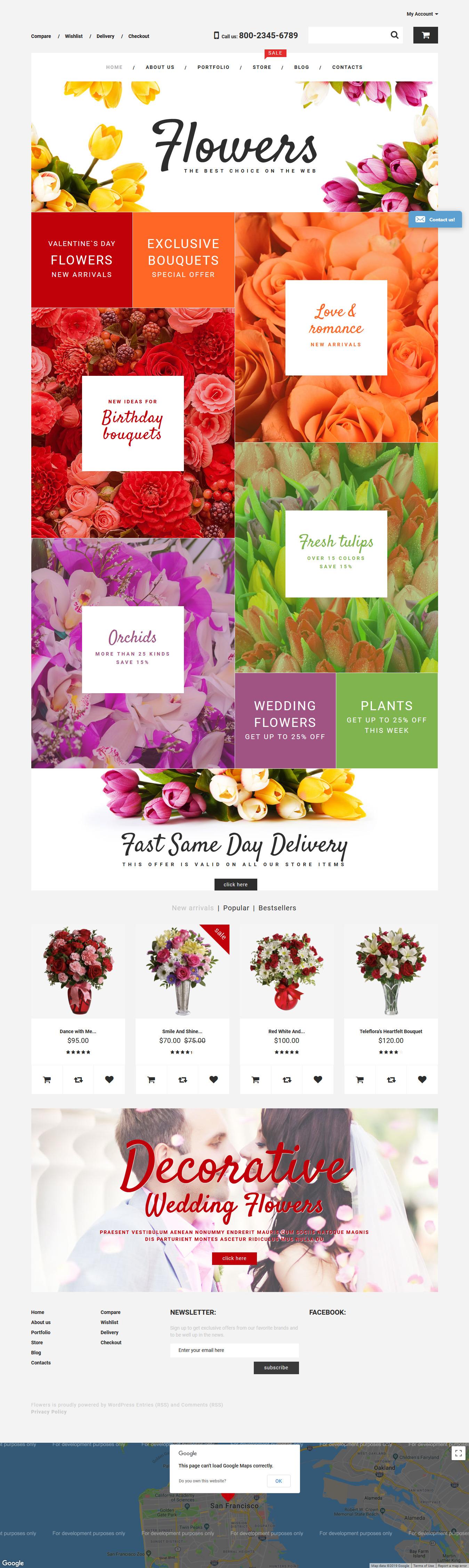 flower shop best premium florist floriculture wordpress theme - 10+ Best Premium Florist and Floriculture WordPress Themes