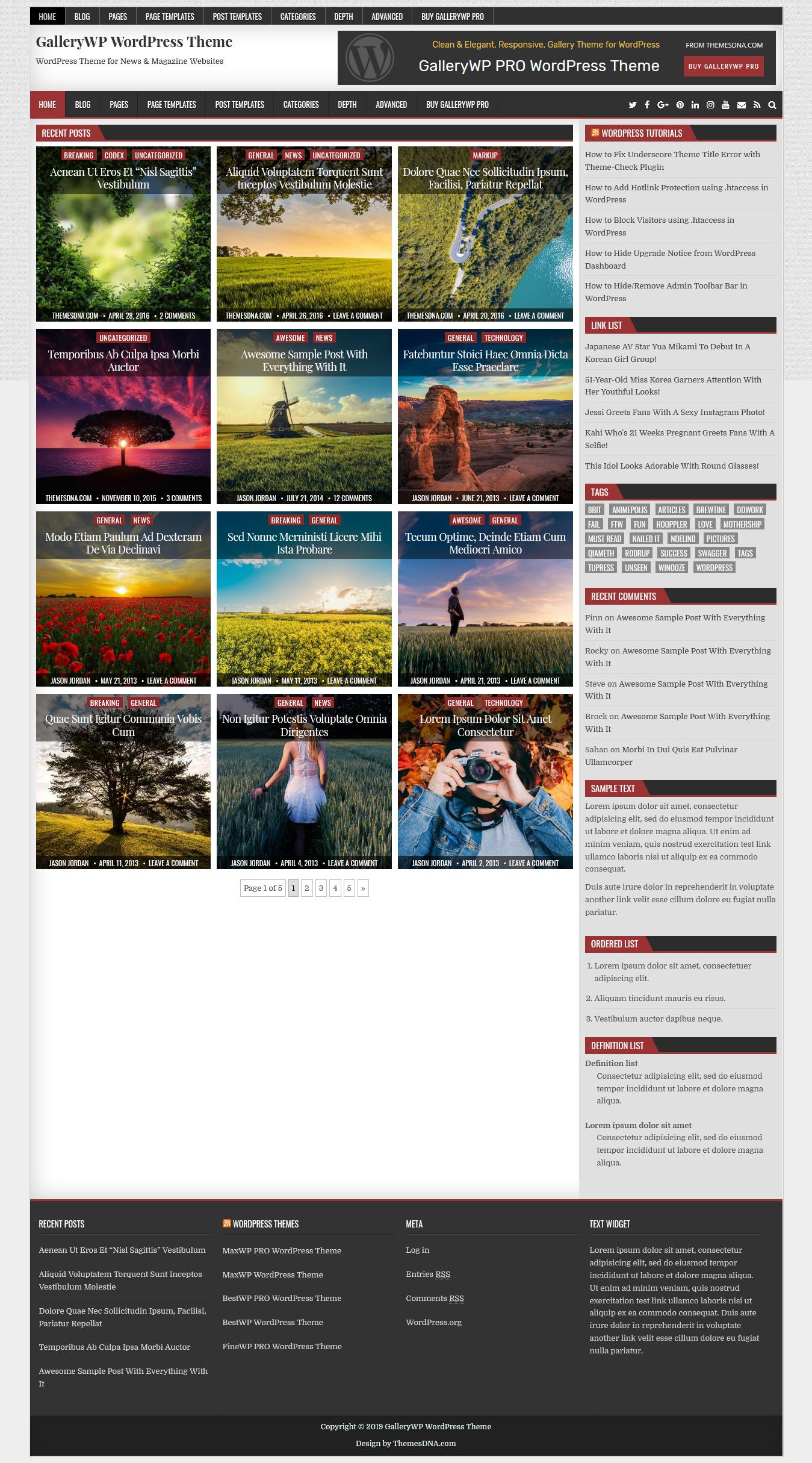 gallerywp best free gallery wordpress theme 1 - 10+ Best Free Gallery WordPress Themes
