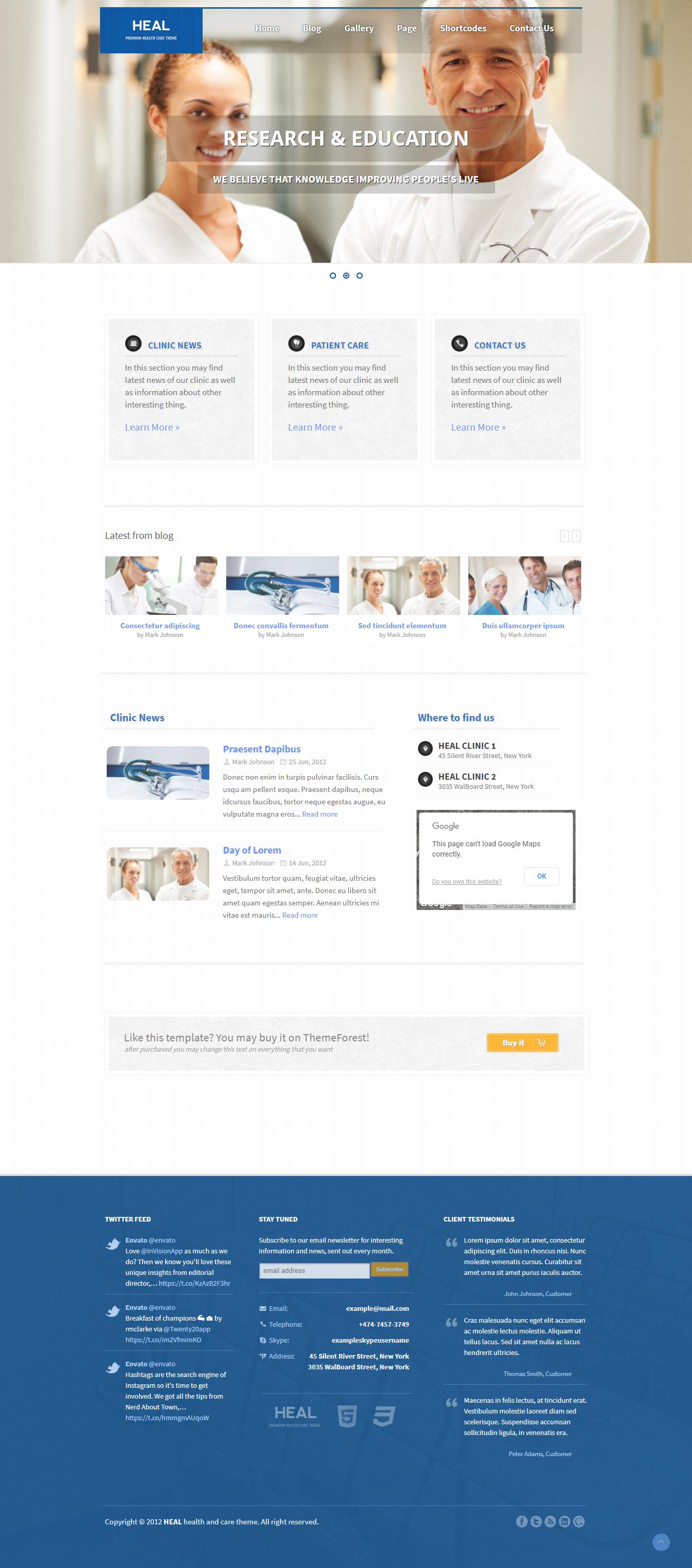 Heal -Best Premium Science WordPress Theme