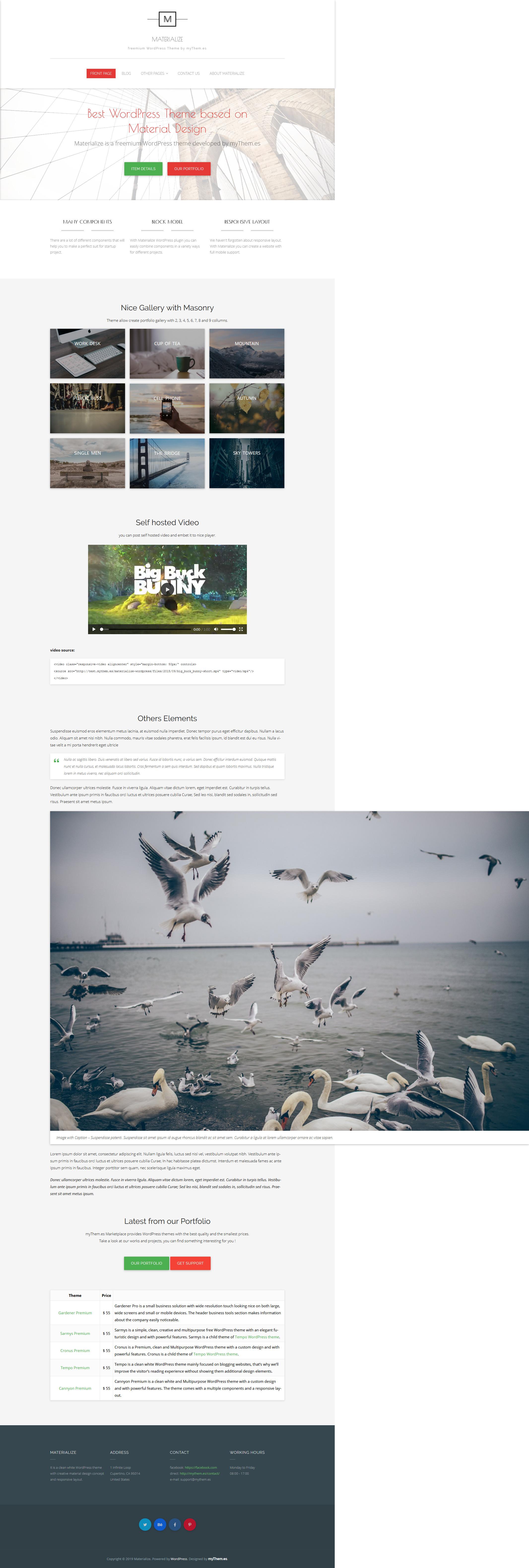 materialize best free science wordpress theme - 10+ Best Free Science WordPress Themes