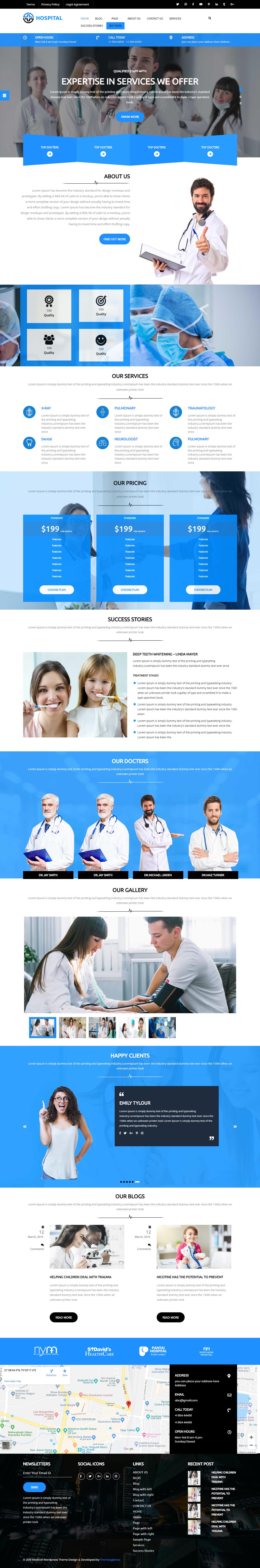 medical hospital best free science wordpress theme - 10+ Best Free Science WordPress Themes