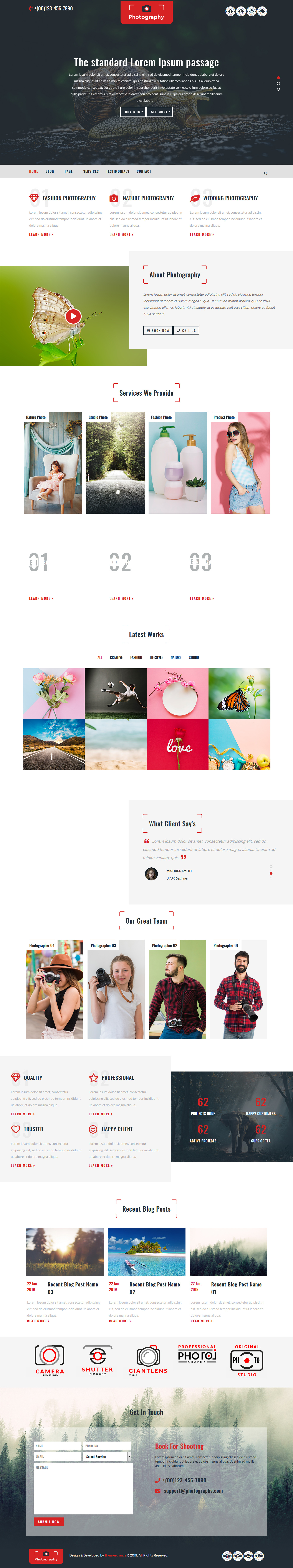 multipurpose photography best free gallery wordpress theme - 10+ Best Free Gallery WordPress Themes