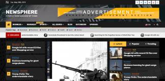 Newsphere - Free News and Magazine WordPress Theme