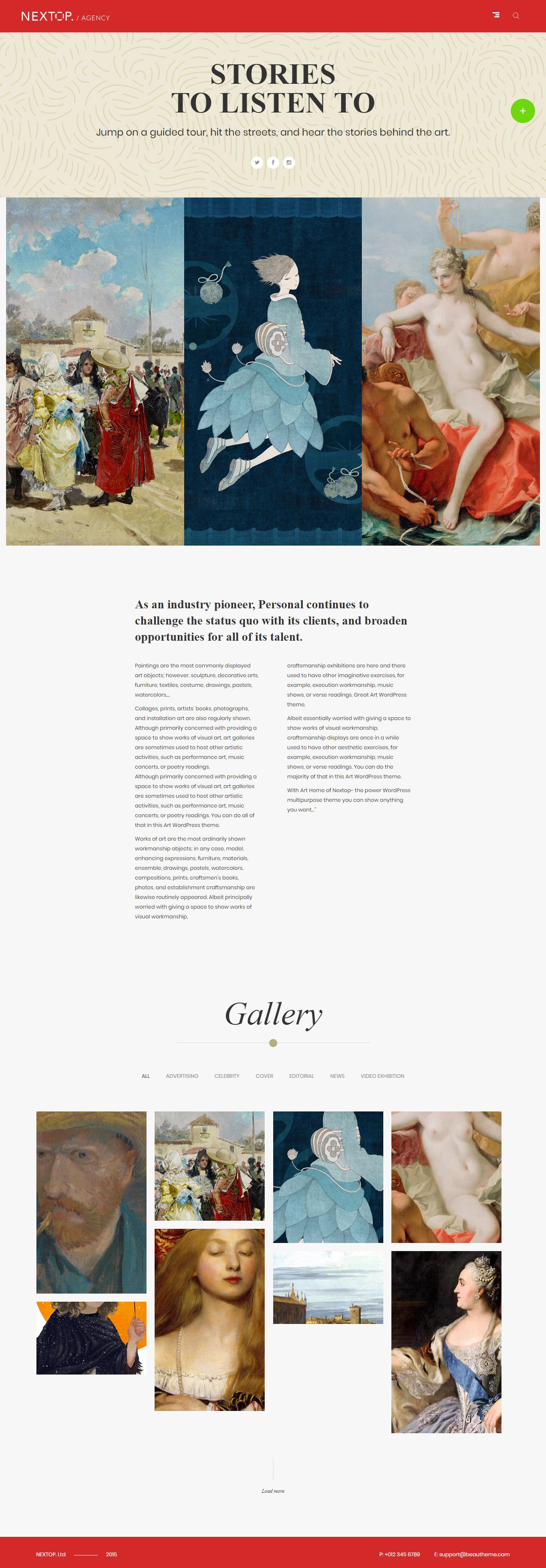 nextop best premium gallery wordpress theme - 10+ Best Premium Gallery WordPress Themes