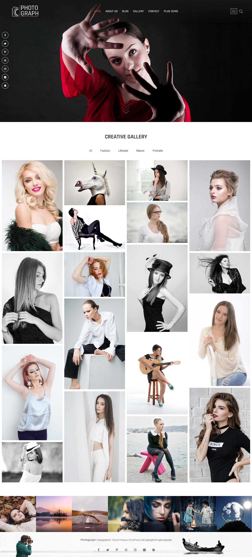 photograph best free gallery wordpress theme - 10+ Best Free Gallery WordPress Themes