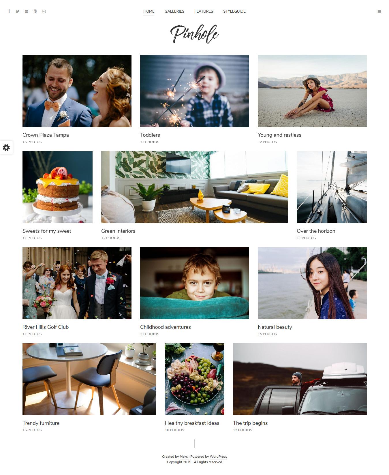 pinhole best premium gallery wordpress theme - 10+ Best Premium Gallery WordPress Themes
