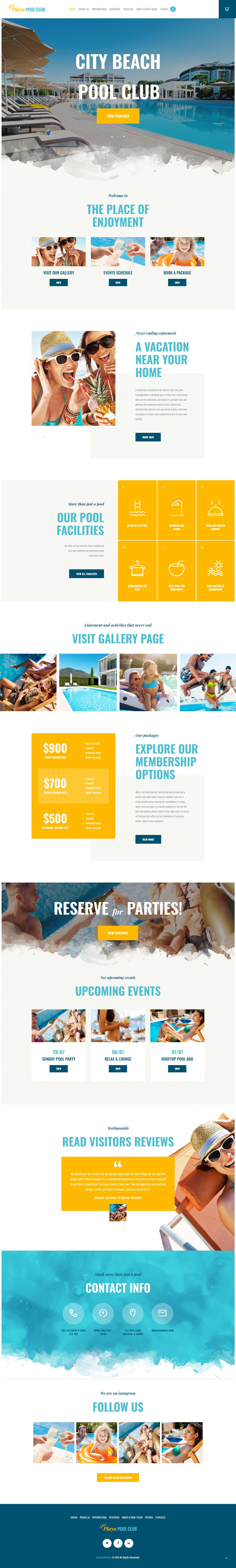 playa best premium outdoor activities wordpress theme - 10+ Best Premium Outdoor Activities WordPress Themes