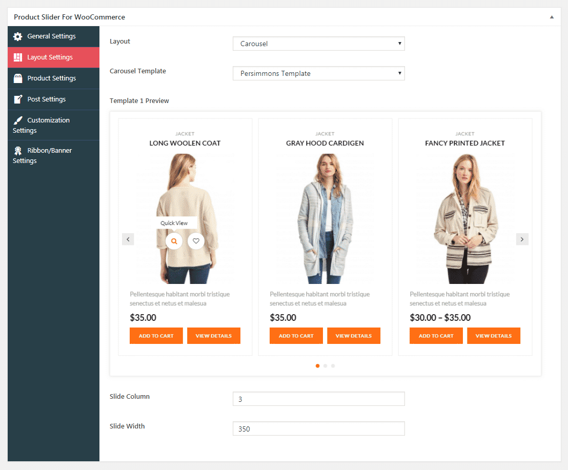 product slider for woocommerce lite layout settings - How to Add Product Slider on WooCommerce Website? (Step By Step Guide)