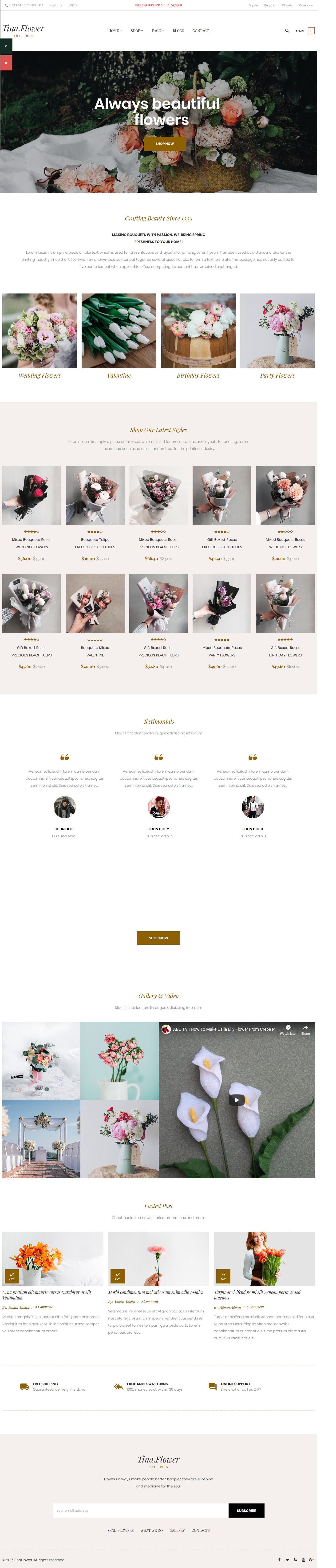 Pts Flower – Best Premium Florist and Floriculture WordPress Theme