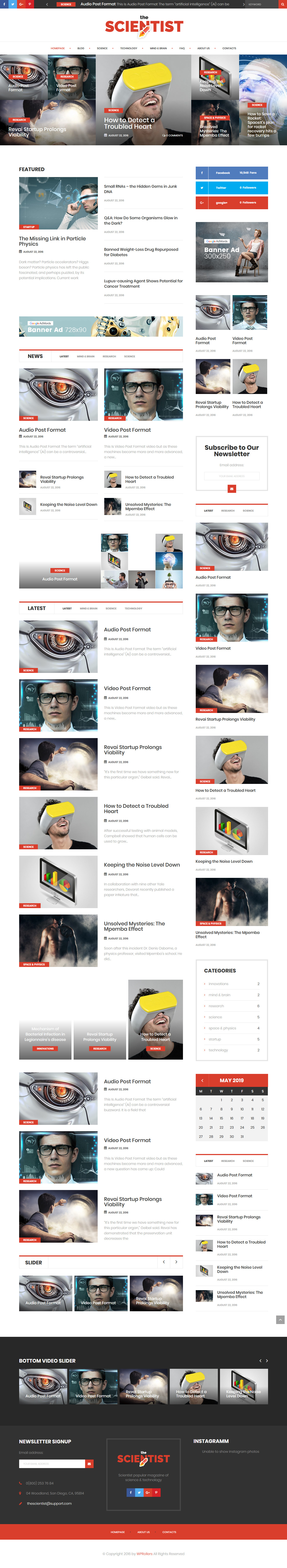 The scientist - Best Premium Science WordPress Theme