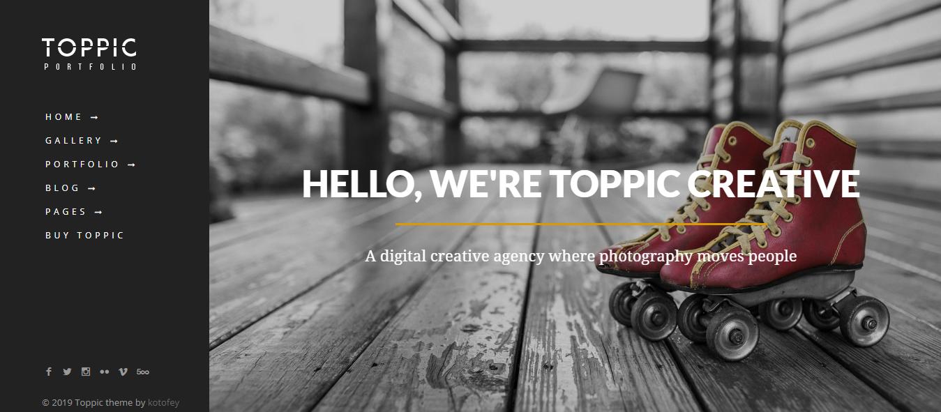 TopPic - Best Premium Gallery WordPress Theme