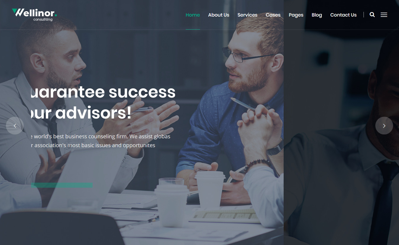 wellinor best premium consultant wordpress theme 1 - 10+ Best Premium Consulting WordPress Themes