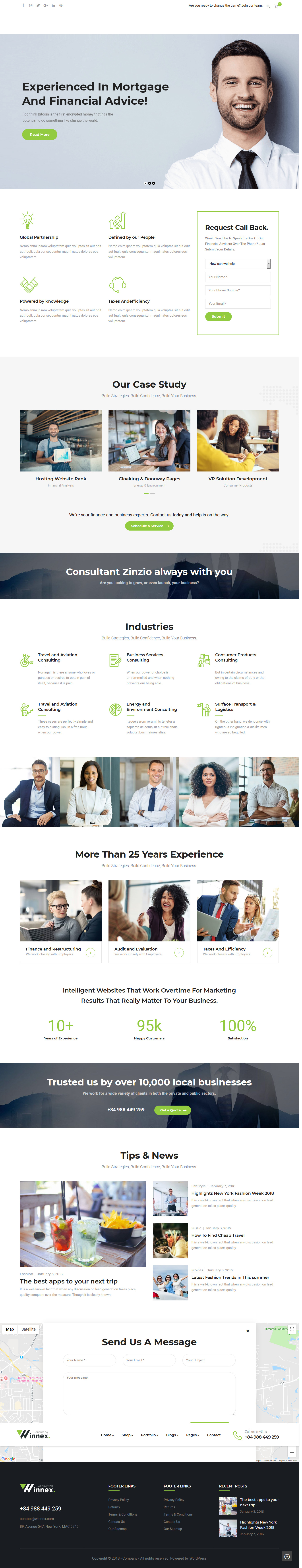 Winnex - Best Premium Consulting WordPress Theme