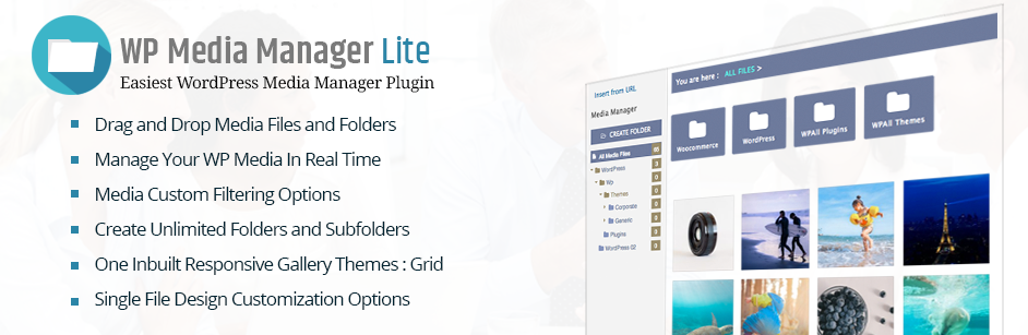 Free WordPress Media Manager Plugins: WP Media Manager Lite