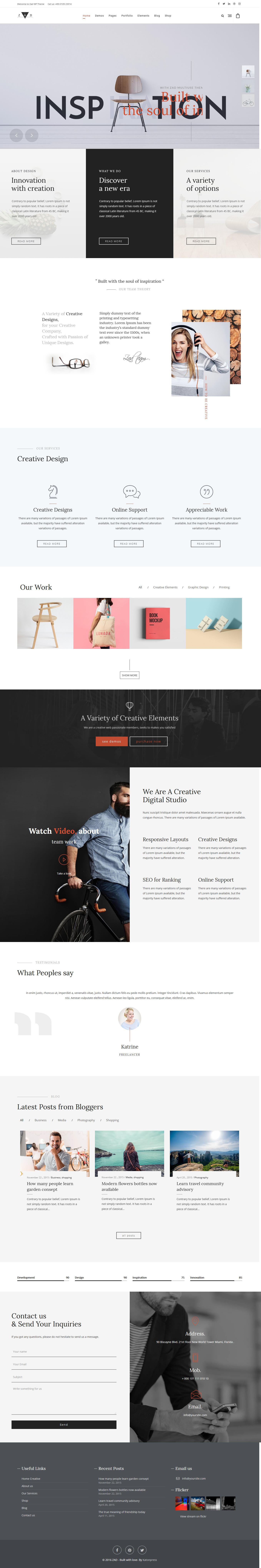 Zad – Best Premium Florist and Floriculture WordPress Theme