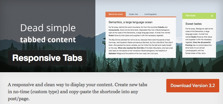 Responsive Tabs - 5+ Best Free WordPress Tab Plugins