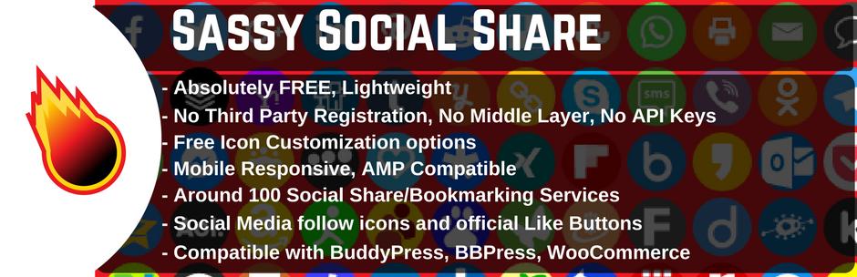 Sassy Social Share WordPress Plugin