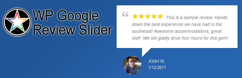 WP Google Review Slider - 5+ Best Free WordPress Google Place Review Plugins