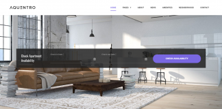 Aquentro - Single Property WordPress Theme