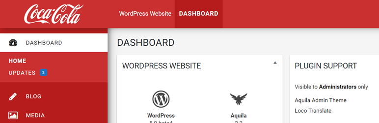 Aquila Admin Theme - Best Free WordPress Backend Customizer Plugin