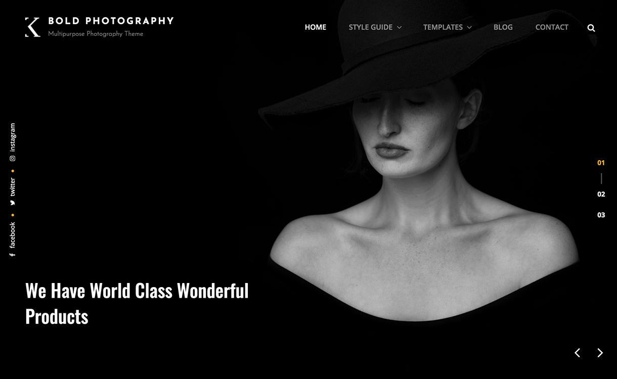 bold photography 1220x750 - 25+ Best Free Photography WordPress Themes & Templates 2020