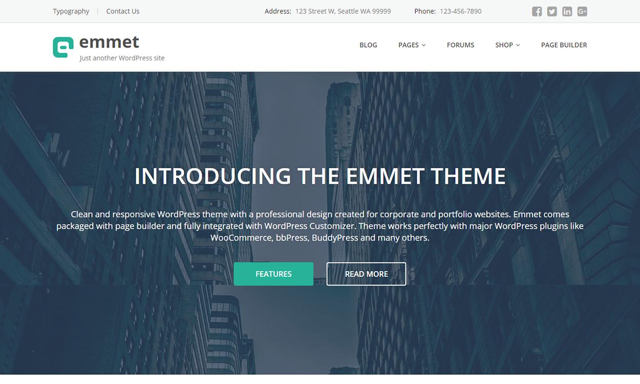 Emmet - Multipurpose WordPress Theme