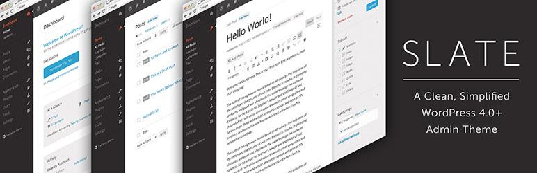 slate admin theme lite best free wordpress backend customizer plugin - 5+ Best Free WordPress Backend Customizer Plugins