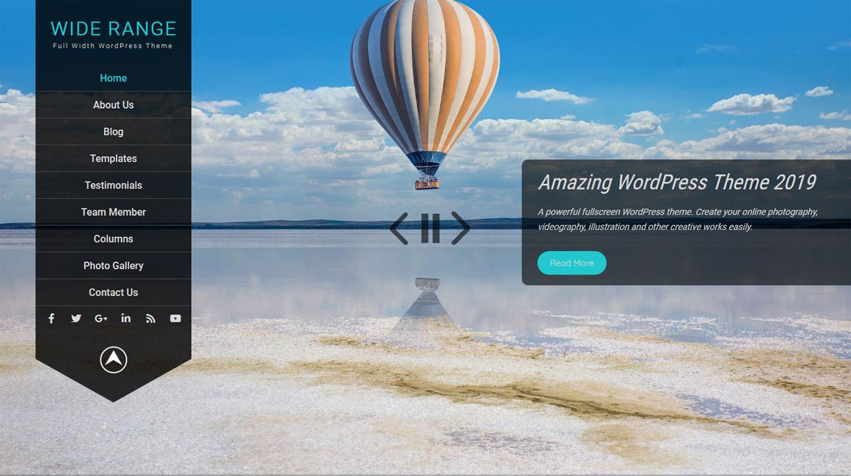 wide range 1 - 25+ Best Free Photography WordPress Themes & Templates 2020