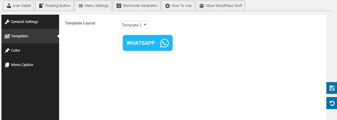 WP WhatsApp Button: Templates