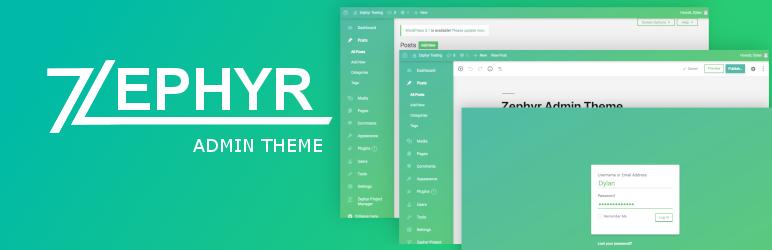 zephyr admin theme best free wordpress backend customizer plugin - 5+ Best Free WordPress Backend Customizer Plugins